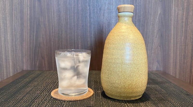 shochu bottle and glass