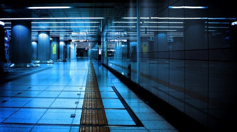 dark corridor of metro station