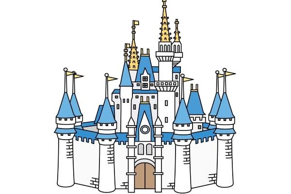 Cinderella Castle in Tokyo Disneyland