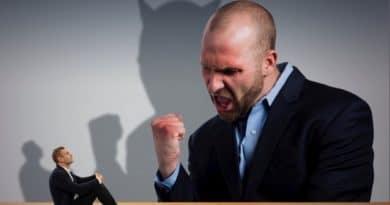 a man shouting at someone
