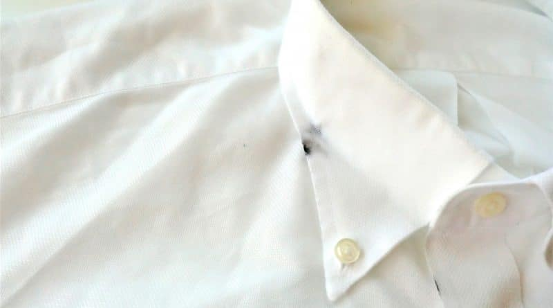 pen ink stain on a white shirt